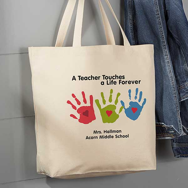 Personalized Large Teacher Tote Bag