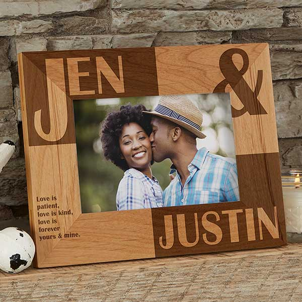 Romantic Personalized Picture Frames Because Of You 4x6
