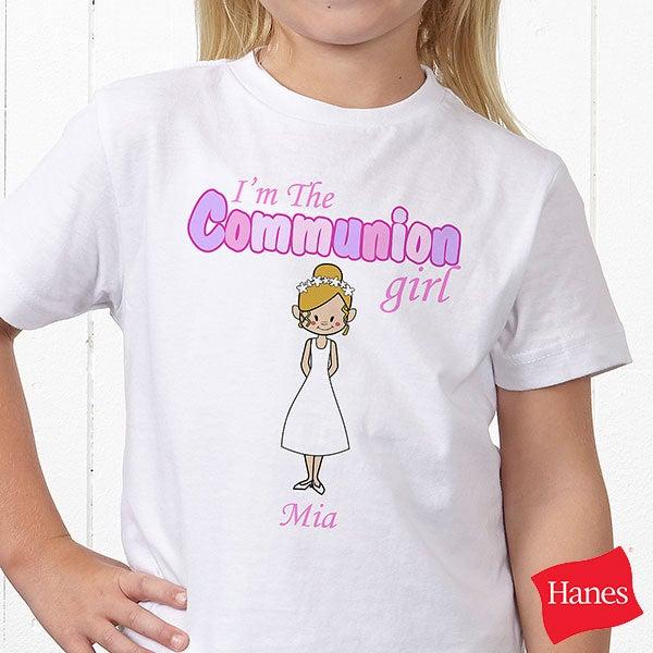 Personalized Kids T-Shirts - Communion Girl - 8143