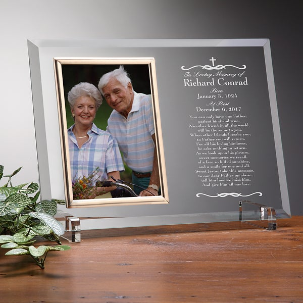 Personalized Glass Memorial Picture Frame We Shall Meet Again
