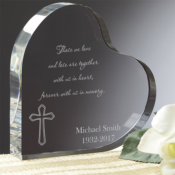 Personalized Heart Memorial Gift - Forever With Us In Memory - 8248