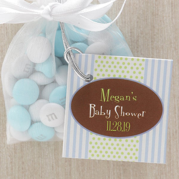It's A Boy Personalized Baby Shower Party Favor Tag - 8328