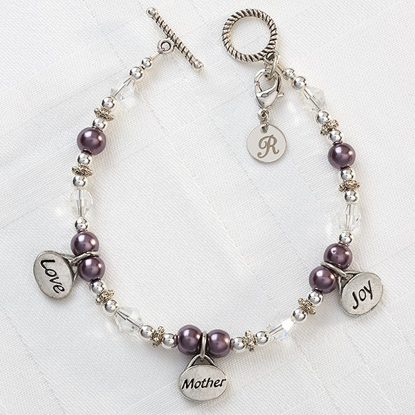Personalized Charm Bracelet For Mom Love Mother Joy 8348