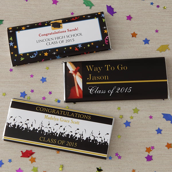 personalized chocolate wrappers template - 8481 way to go grad personalized candy bar wrappers