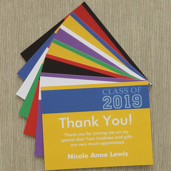 Personalized Graduation Thank You Notes - Academic Adventures - 8495