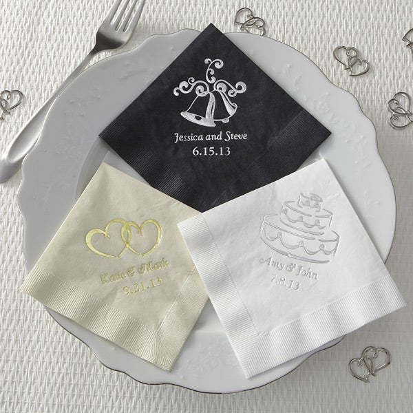 8572 wedding personalized party napkins