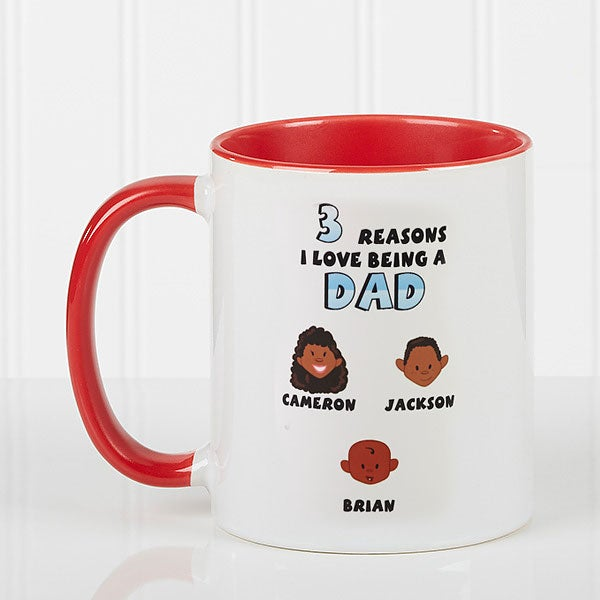 Personalized Coffee Mugs - Family Characters Reasons Why - 8603