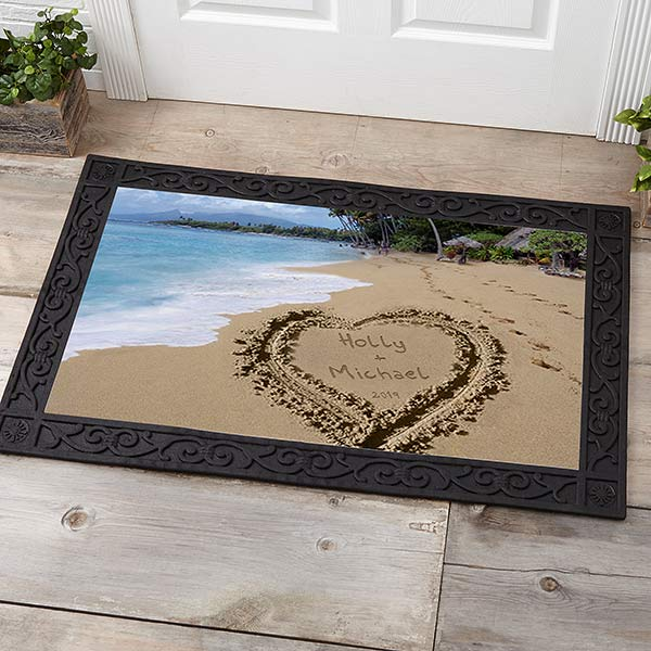 Personalized Door Mats - Sandy Beach Tropical Island Doormat - 8608
