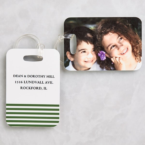 Personalized Photo Luggage Tag Set - 8613