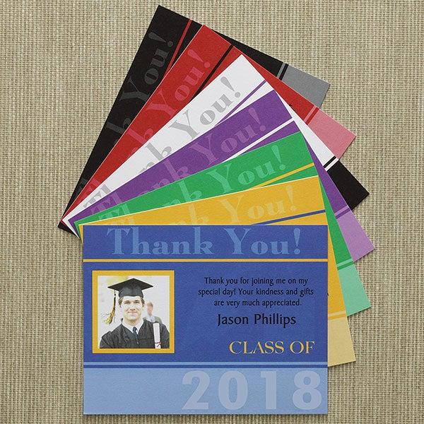 Personalized Graduation Thank You Cards - Destiny Achieved - 8670
