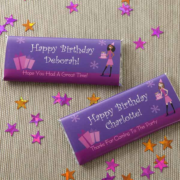 Custom Candy Bar Wrappers Birthday Girl