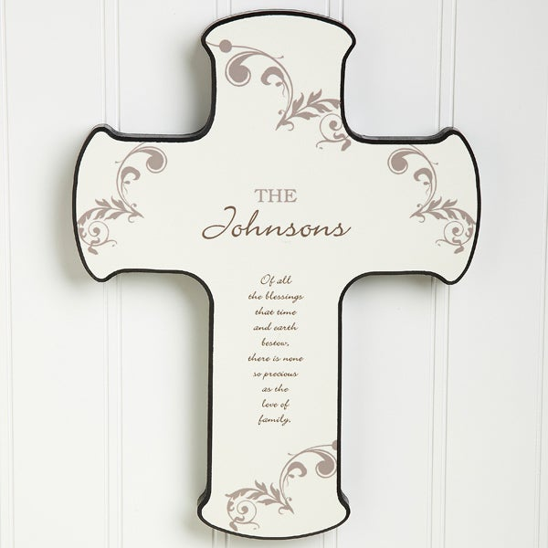 God Bless Our Home Personalized Wall Cross - 8717