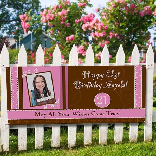 personalized photo birthday party banner birthday fun