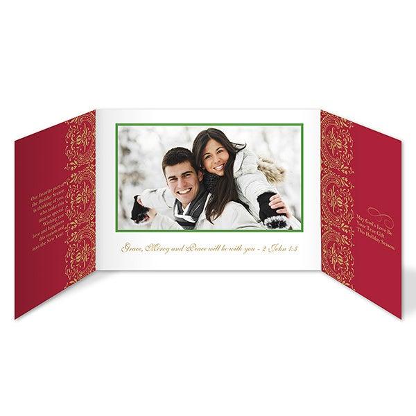 Personalized Peace Dove Photo Christmas Cards - Gatefold - 8787