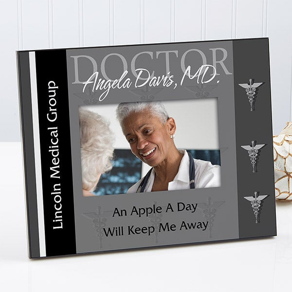Personalized Doctor Picture Frame - 3 Colors - 8794