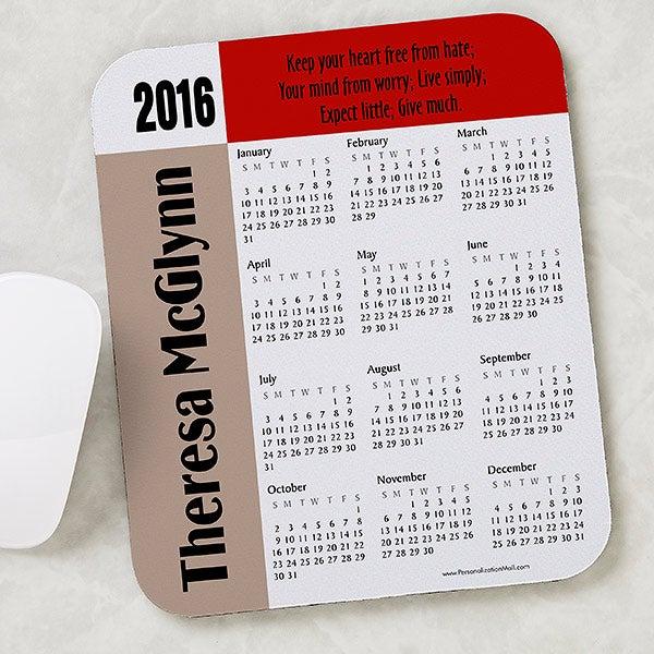 Calendar Design Quote : You design it personalized calendar quote mouse pad