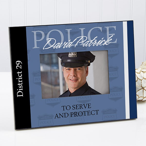 Personalized Police Officer Picture Frame - 8801