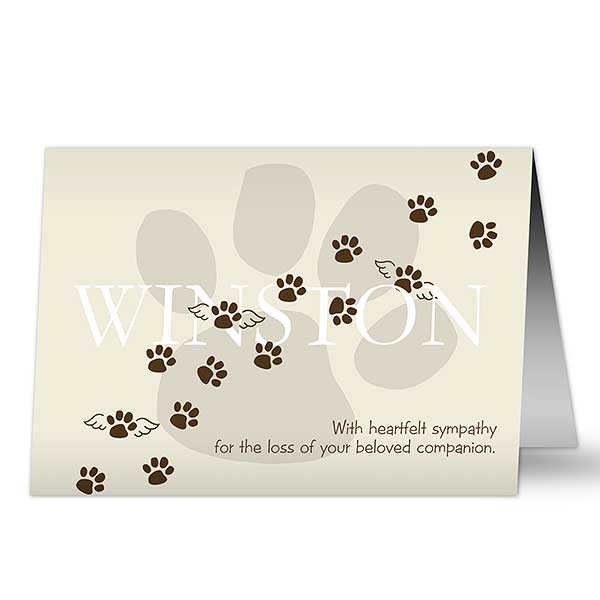 Personalized Pet Memorial Sympathy Card