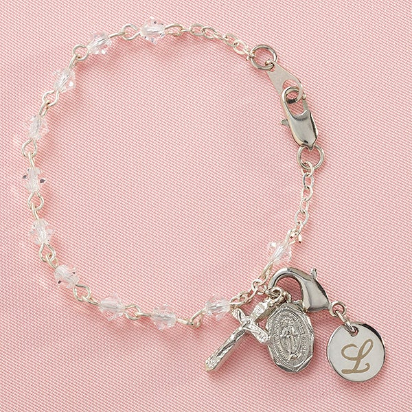 Personalized Christening Gifts Baby S First Rosary Bracelet 8956