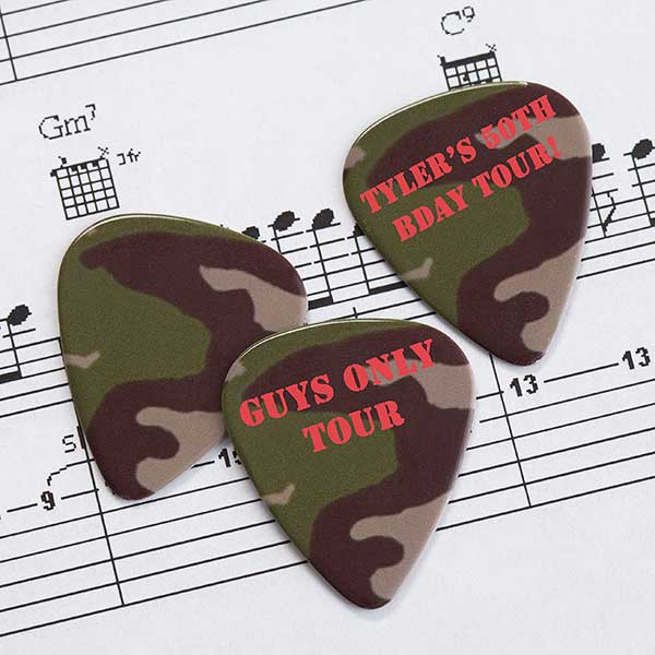 Personalized Guitar Picks - Camouflage - 9029