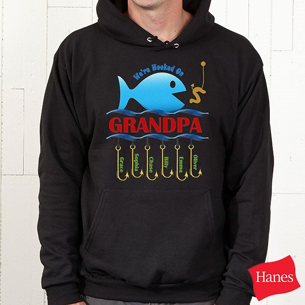 Personalized Clothes & Accessories - Hooked On You Fish Design - 9105