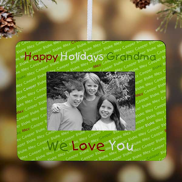 Personalized Christmas Ornament Frame - My Little Ones - 9214