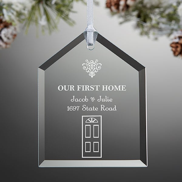 Our First Home Christmas Ornament.Our First Home Engraved Ornament