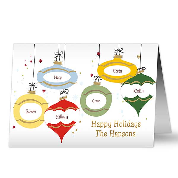 Personalized Christmas Ornaments Holiday Greeting Cards - 9242