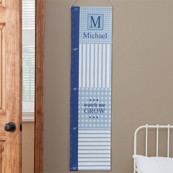 Personalized Growth Charts - Gingham - 9373