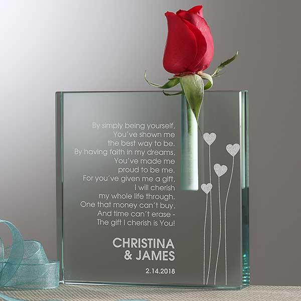 Personalized Bud Vase - Friendship Heart - 9387