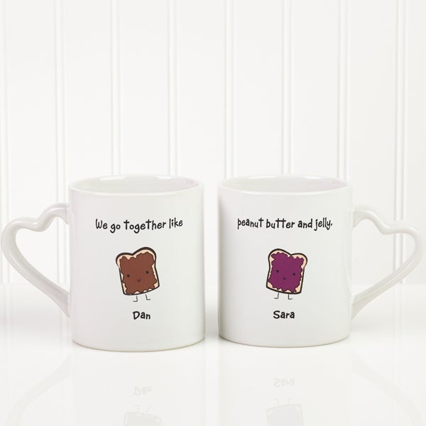 We Go Together Like... Personalized Mug Set