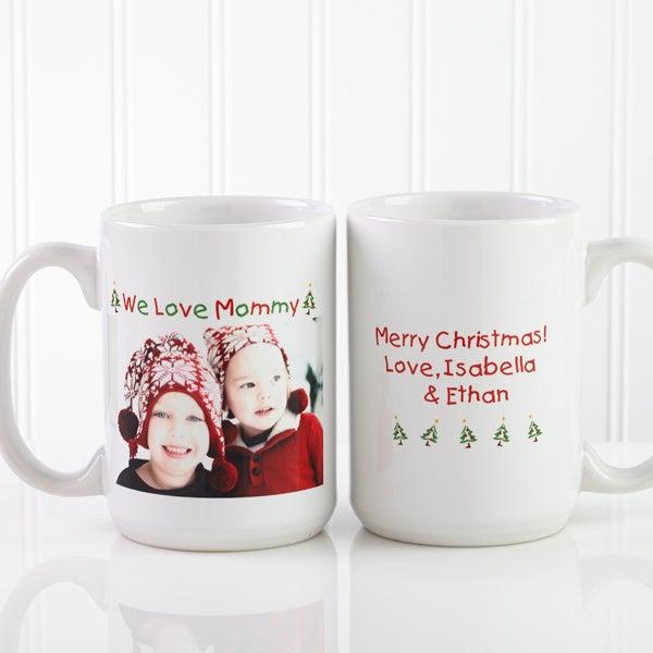 Personalized Loving You Photo Holiday Ceramic Mug - 9426