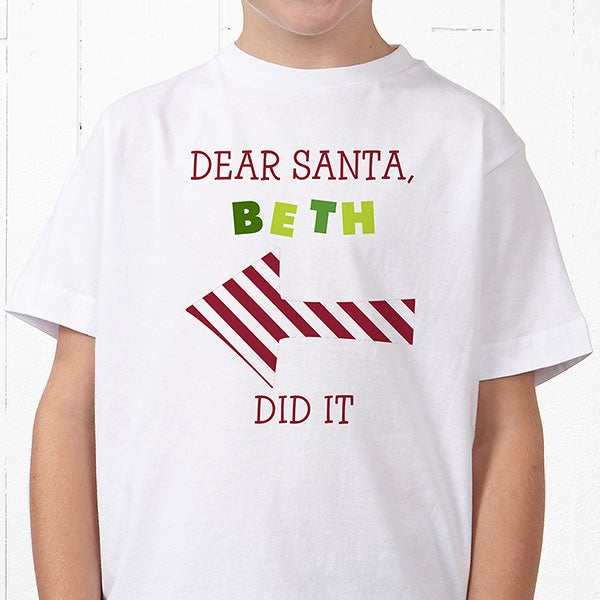 4a9ceb2c0 Personalized Kids Christmas T-Shirts - Dear Santa - Christmas Clearance