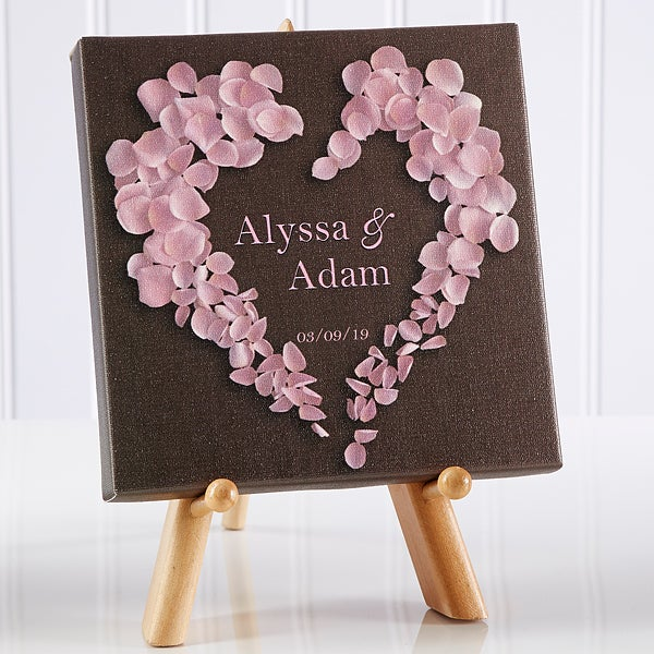 Personalized Canvas Prints - Hearts of Roses