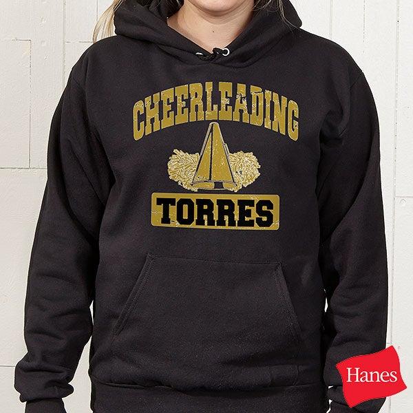 Custom Personalized Sports Hooded Black Sweatshirt - 9582