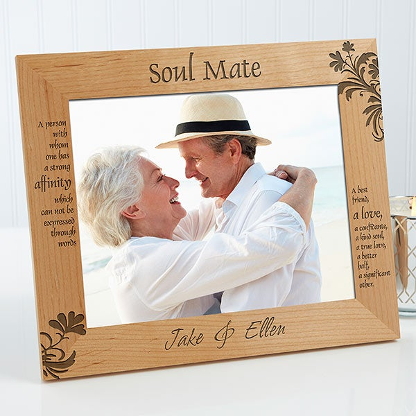 Personalized Soul Mates Picture Frame - 8 x 10 - Romantic Gifts