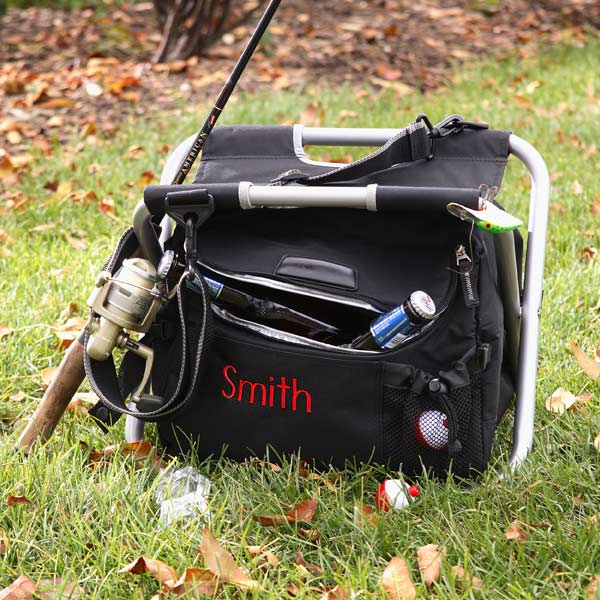 Personalized Fishing and Camping Cooler Chair - 9732