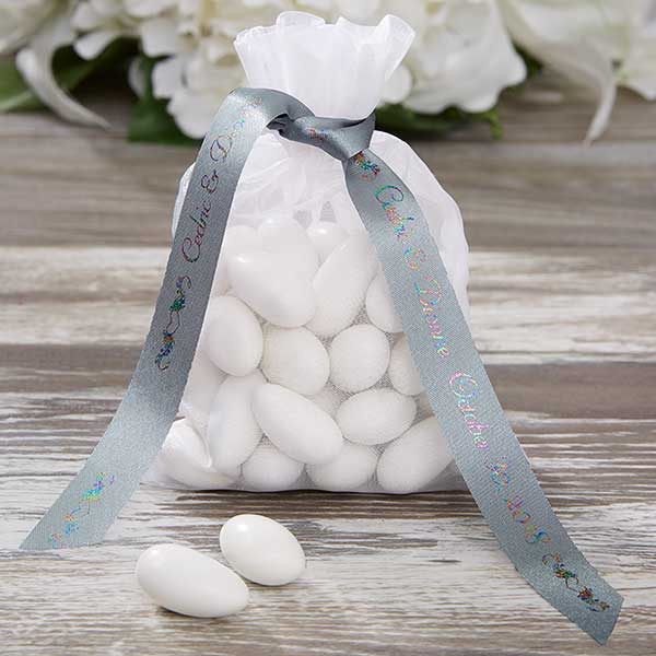 Personalized Wedding Custom Printed Favor Ribbon