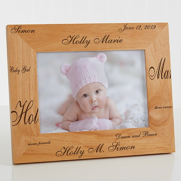 Personalized Newborn Baby Wood Frame - Our New Arrival Collection - 9769