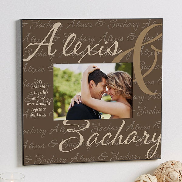 Personalized 5x7 Wall Frames - Love Brought Us Together - 9815