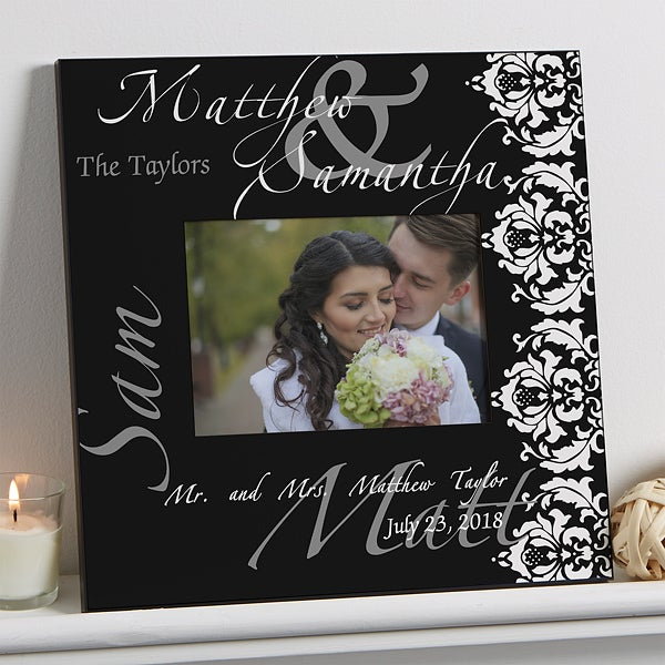 Personalized 5x7 Wall Picture Frames - Wedding Couple - 9818
