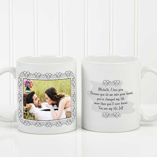 c203c17511604 Personalized Photo Coffee Mug with Custom Text