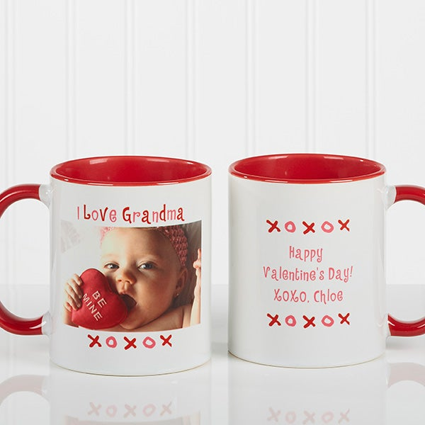 Personalized Loving You Photo Ceramic Coffee Mug - 9847