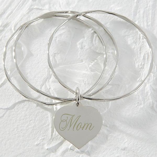 Personalized Heart Bracelet for Mothers - Dear Mom - 9851
