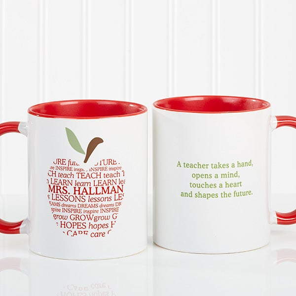 Personalized Coffee Mug for Teachers - Apple - 9915
