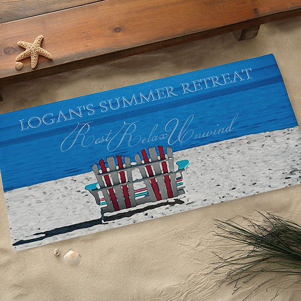 Custom Personalized Beach Door Mat - 9930