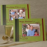 Happy Holidays Personalized Photo Christmas Cards - 6054