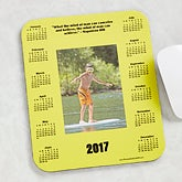 Personalized Photo and Calendar Mouse Pad with Famous Quotes - 6060