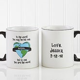 Personalized Coffee Mug and Key Ring - You Are My World - 6073