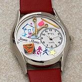 Custom Preschool Teacher Leather Watch - 6089D